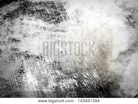 grunge scratched metal paint background