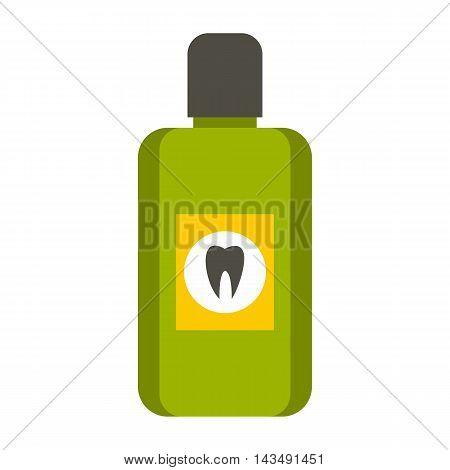 Mouthwash icon in flat style isolated on white background. Dental care symbol