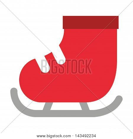 skate ice isolated icon vector illustration design