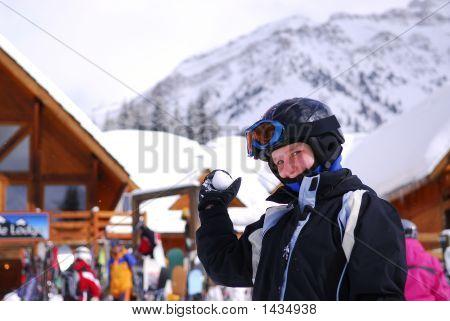 Girl Ski Resort