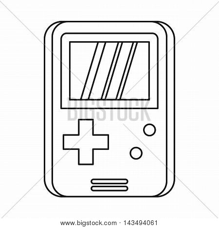 Pocket game icon in outline style isolated on white background