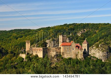 Herdegg. Beautiful Old Castle In The Nice Countryside Of Austria. National Park Thaya Valley, Lower