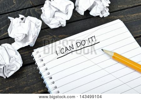 I can do it text on notepad and crippled paper