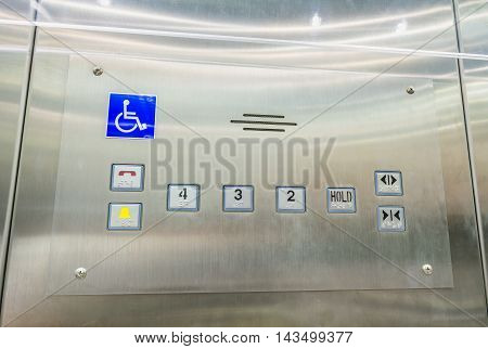 Image Of Stainless Steel Elevator Panel Push Buttons