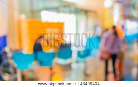 Image Of Blur People In Office