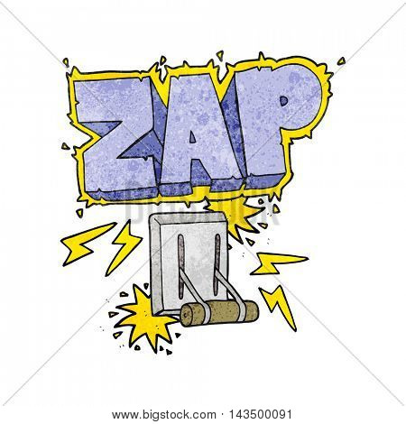 freehand textured cartoon electrical switch zapping