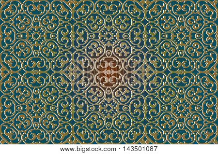 texture abstract pattern decoration element wavy lines and geometric shapes on a green background