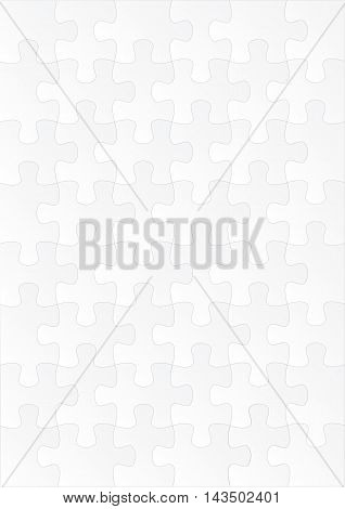 Vertical White Empty Puzzle Game Background