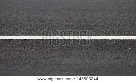 Asphalt with white road line on the road