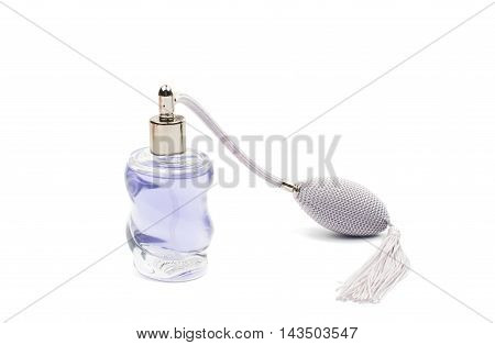 lady perfume aroma romantic isolated on white background