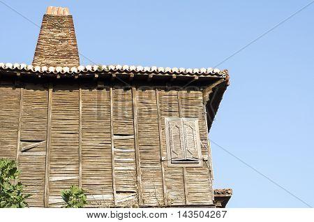 Classic dwelling at old town Sozopol Bulgaria