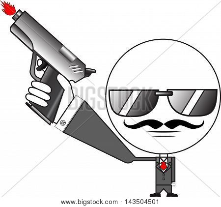 Gunman vector Illustration for icon or other