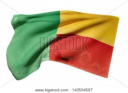 Republic Of Benin Flag Waving