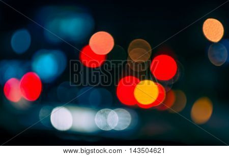 Blur Image Of Inside Cars With Bokeh Lights .