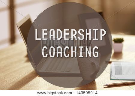 Stylish workplace.Leadership coaching concept