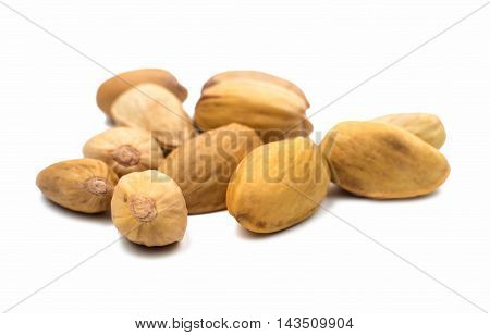 pistachios natural organic  food on a white background