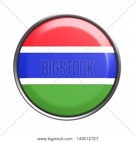 Silhouette Of Gambia Button