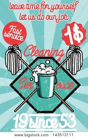 Cleaning service banner. Design concepts for web banners, web sites, printed materials, infographics. Creative vector illustration