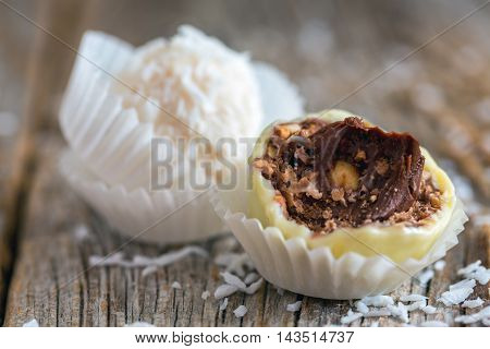 Truffles Filled With Praline.