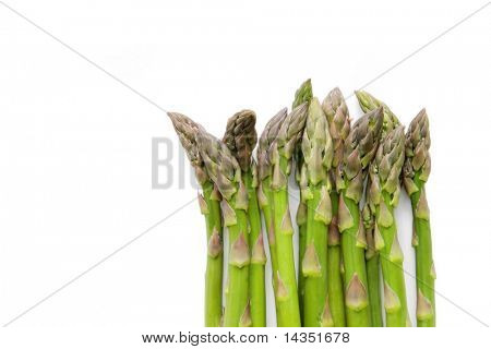 Asparagus spears, isolated on white.