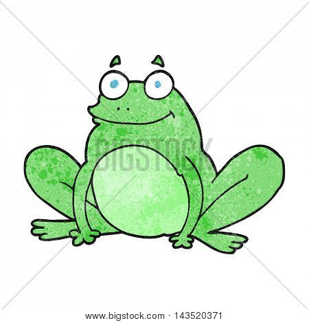 freehand textured cartoon happy frog