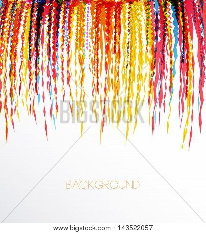 Vector illustration of a colorful party background with confetti for your text