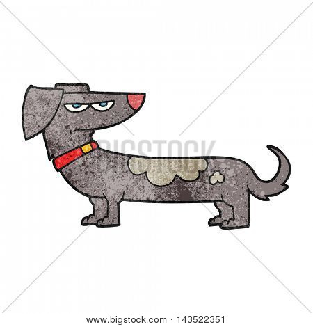 freehand textured cartoon annoyed dog