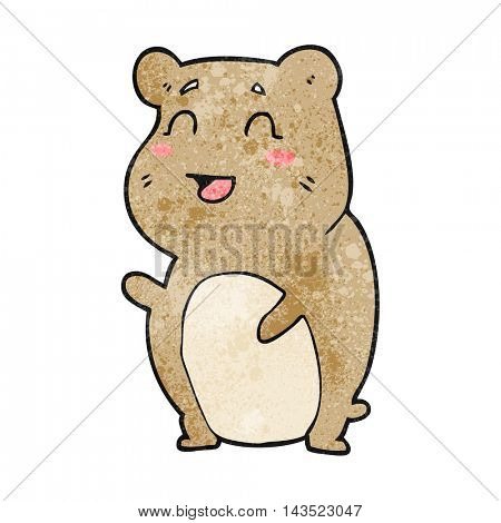 freehand textured cartoon cute hamster