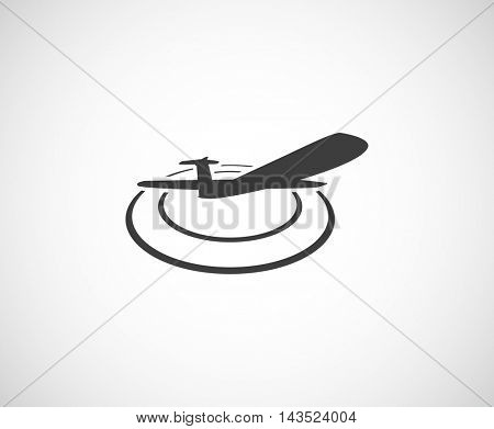 plane in circles web icon