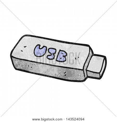freehand textured cartoon USB stick