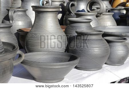 earthen vessels on the sunlight . .
