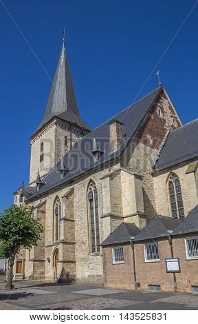 St. getrudis church on the central square in Horstmar Germany