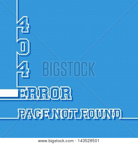 Error 404. Page not found message. Vector illustration