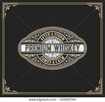 Premium Whiskey Label