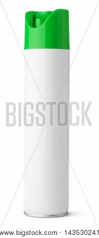 Air freshener aerosol spray metal bottle can isolated on white with clipping path