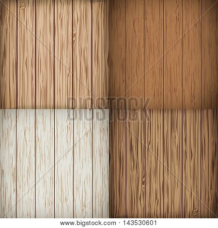 Wooden background set. Wood background. Vector illustration