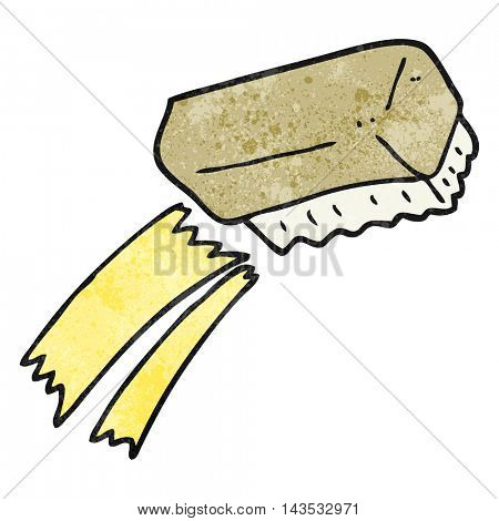 freehand textured cartoon scrubbing brush