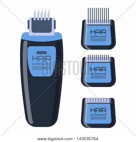 Electric shaver over white background razor shave male equipment power beauty technology vector. Razor electric shaver and power technology electric shaver. Battery electric shaver power trimmer.