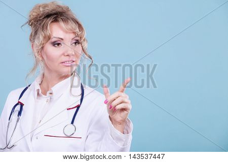 Female Doctor Showing Copy Space.