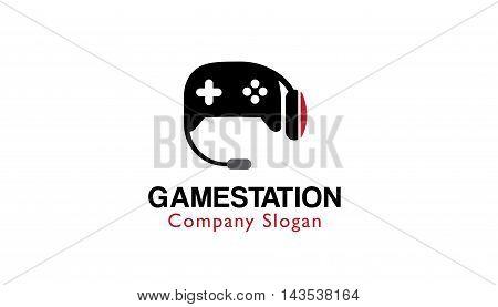 Game Station Logo Creative And Symbolic Design Illustration