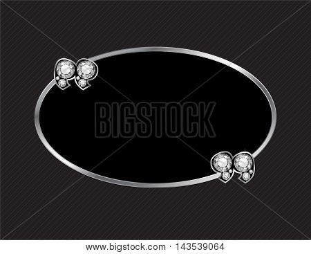 Diamond Stone Quotes on Silver Metal Speech Bubble over Pinstripe Background