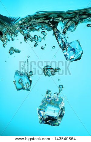 Ice Cubes With Bubbles