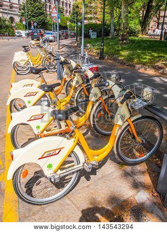Bikemi Cycle Hire (hdr)