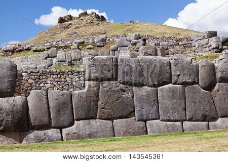 Inca Site Of Saqsaywaman In Peru