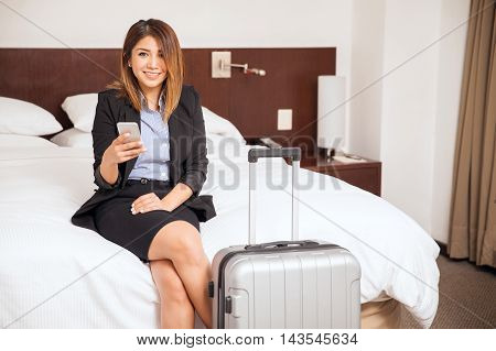 Beautiful Woman On A Business Trip