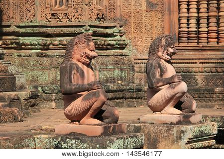 Banteay Srei Temple orginal called Tribhuvanamaheśvara (Great Lord of the Threefold World) in Cambodia