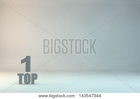 top 1 on background.3d illustration