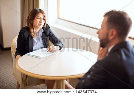 Point Of View Of Man In A Job Interview