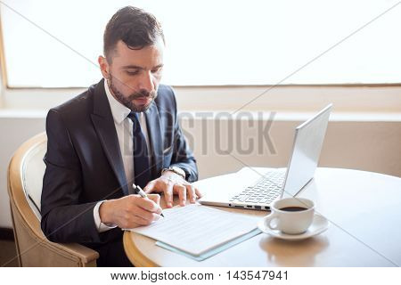 Handsome Attorney Signing A Contract