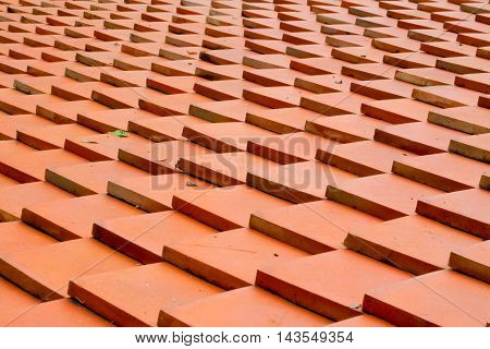 roof tiles made of terracotta background .
